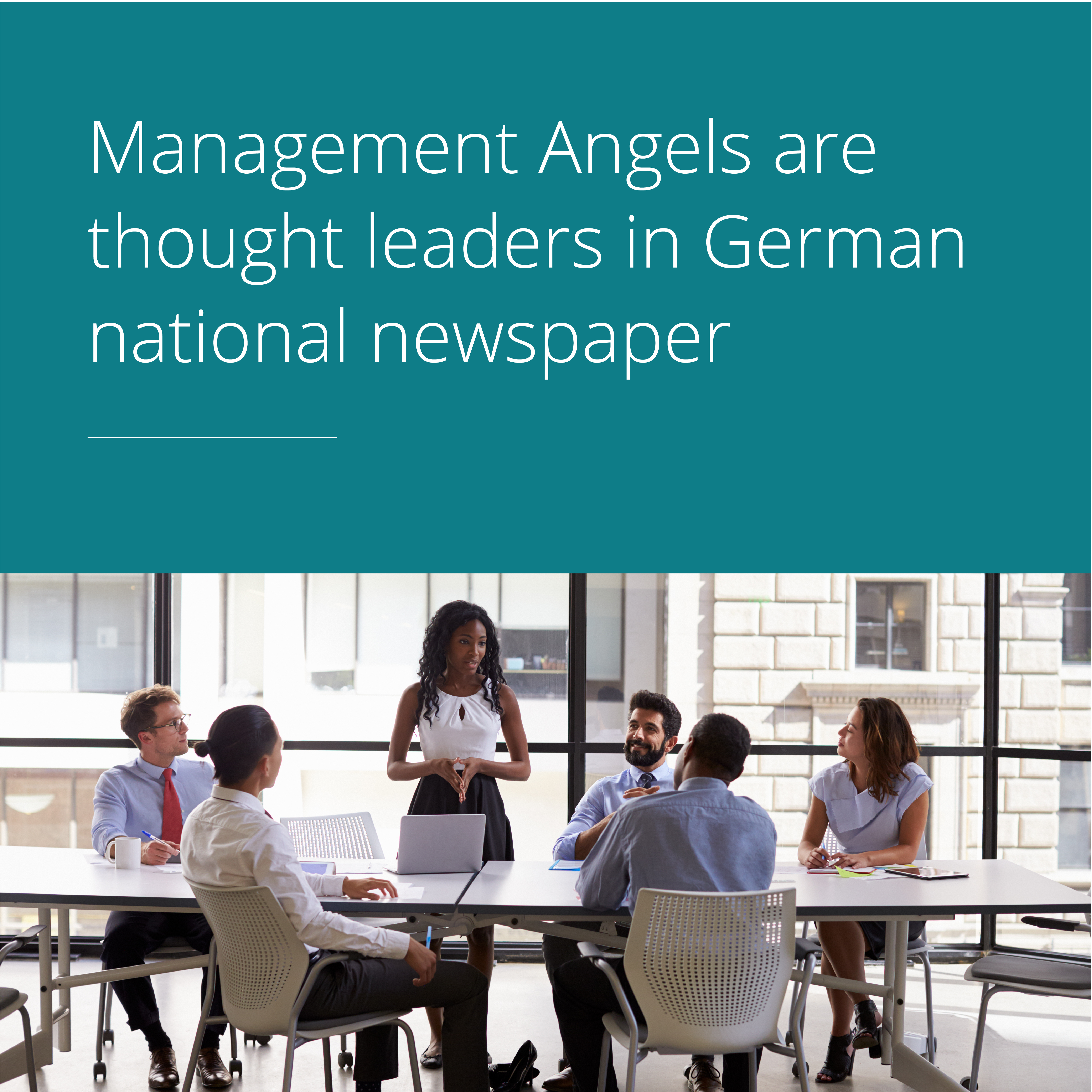 Thumbnail for Management Angels are thought leaders in German national newspaper