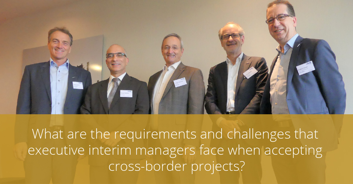 Thumbnail for What are the requirements and challenges that executive interim managers face when accepting cross-border projects?